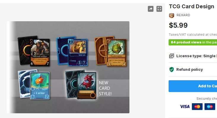 TCG Card Design – Free Download Unity Assets