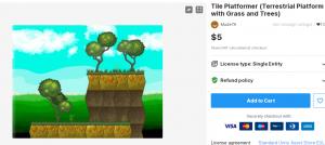 Tile Platformer (Terrestrial Platform with Grass and Trees) – Free Download Unity Assets