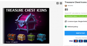 Treasure Chest Icons – Free Download Unity Assets