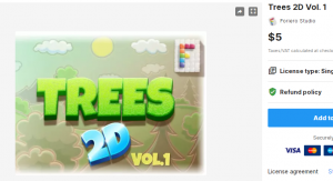Trees 2D Vol. 1 – Free Download Unity Assets