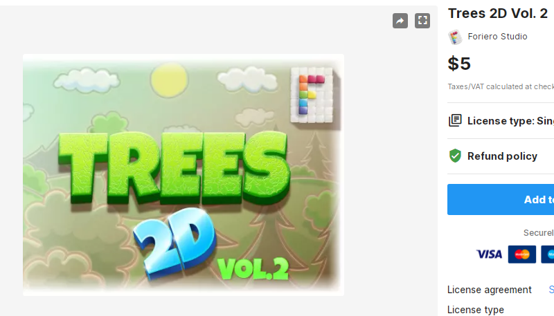 Trees 2D Vol. 2 – Free Download Unity Assets
