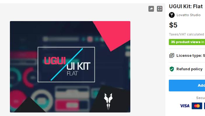 UGUI Kit Flat – Free Download Unity Assets