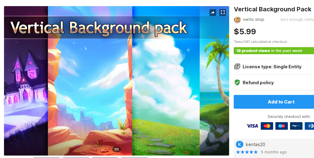 Vertical Background Pack – Free Download Unity Assets