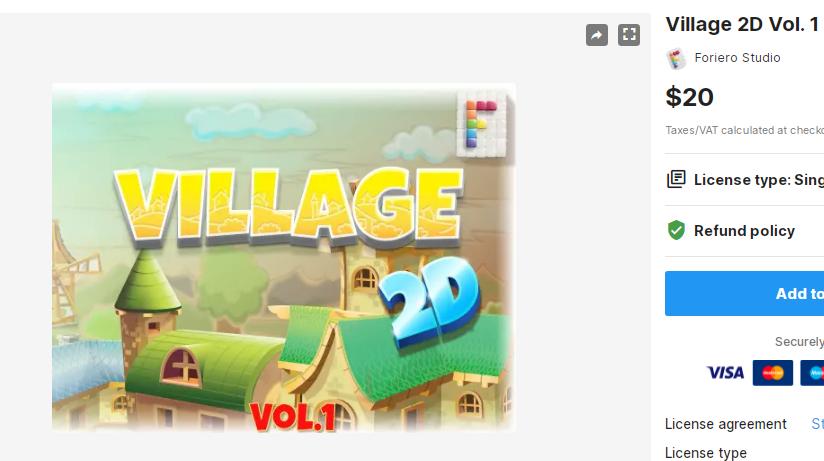 Village 2D Vol. 1 – Free Download Unity Assets