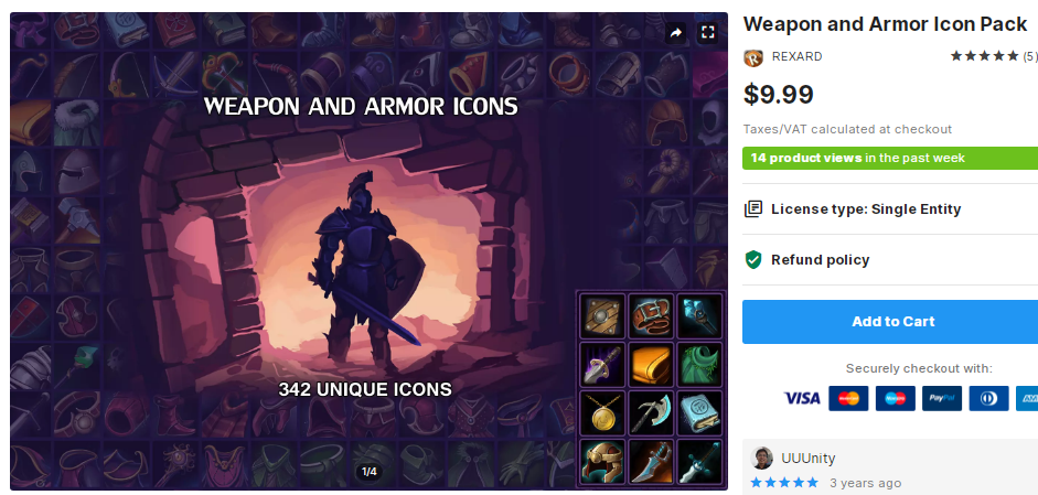 Weapon and Armor Icon Pack – Free Download Unity Assets