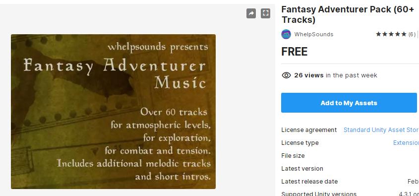 Fantasy Adventurer Pack (60+ Tracks) – Free Download Unity Assets