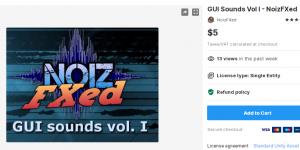 GUI Sounds Vol I – NoizFXed – Free Download Unity Assets