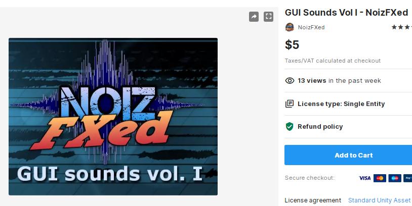 GUI Sounds Vol I - NoizFXed – Free Download Unity Assets