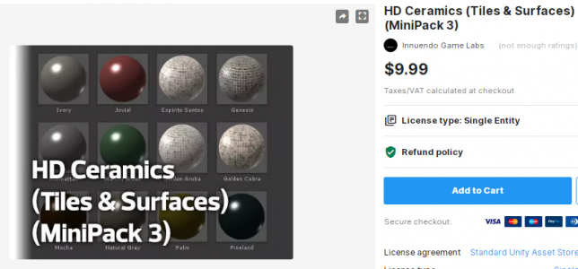 HD Ceramics (Tiles & Surfaces) (MiniPack 3) – Free Download Unity Assets