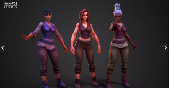 Modular Fantasy Stylized Human Female  – Free Download Unity Assets