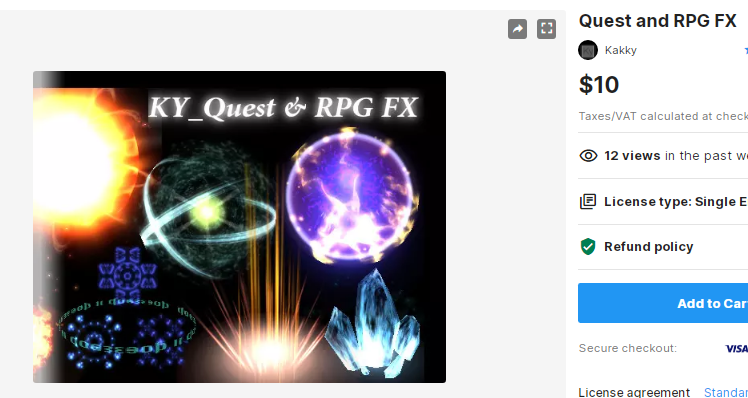 Quest and RPG FX – Free Download Unity Assets