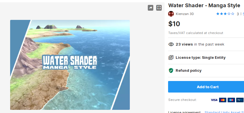 Water Shader - Manga Style – Free Download Unity Assets