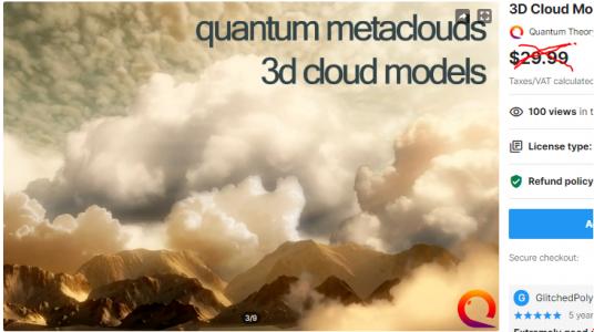 3D Cloud Models – Free Download Unity Assets