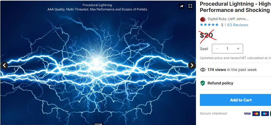 Procedural Lightning - High Performance and Shocking Lightning – Free Download Unity Assets.PNG